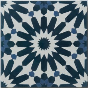 Cement tile moroccan tile black and white tile riad tile for Encaustic tile dallas