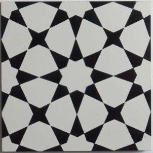 Cement Tile - Estrella-1-301x301 Estrella Black Tile