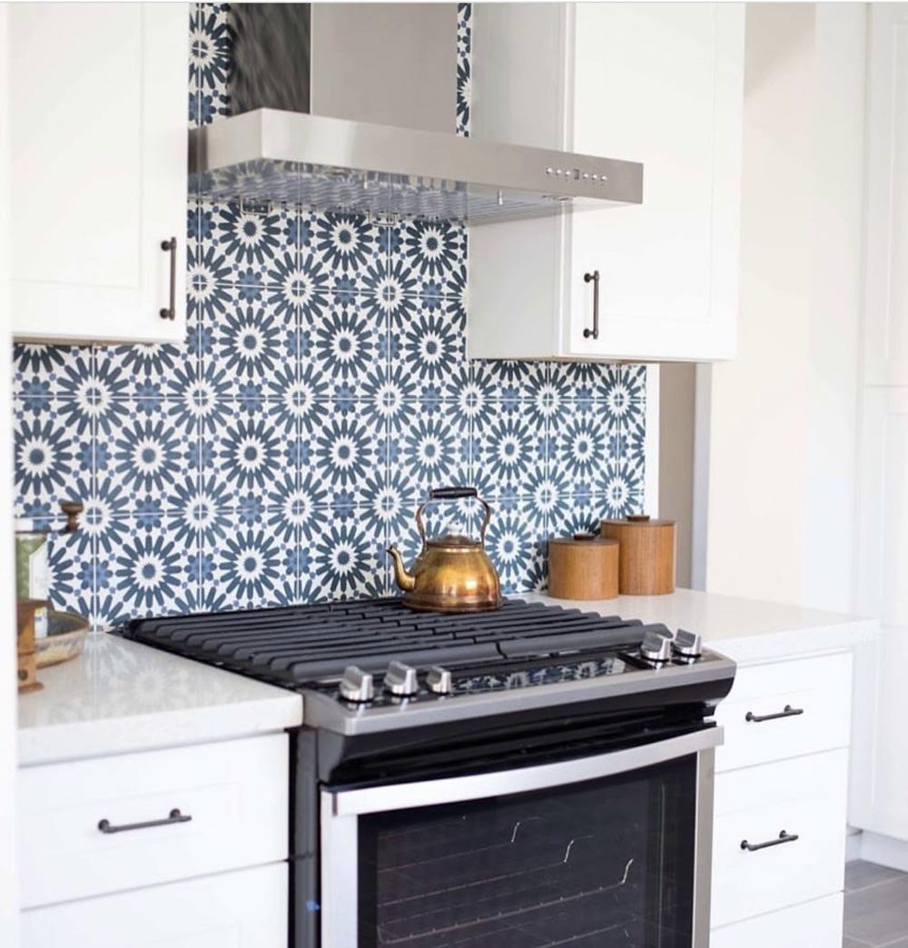 Cement Tile Backsplash - Find Your Statement Piece