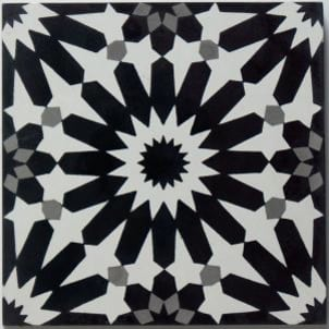 Cement Tile - Erizo-Black-1-1-301x301 Erizo Black Tile