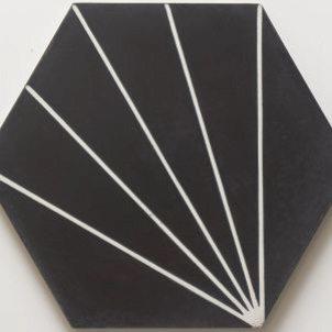 Cement Tile - Nola-Black-1-2-301x301 Nola Black Tile