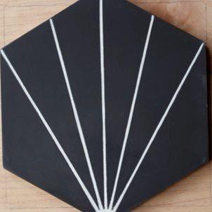Cement Tile - Nola-Black-1-301x301 Nola Black Tile
