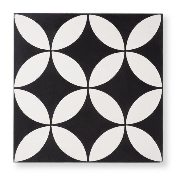 Sample: Circulos Black Tile