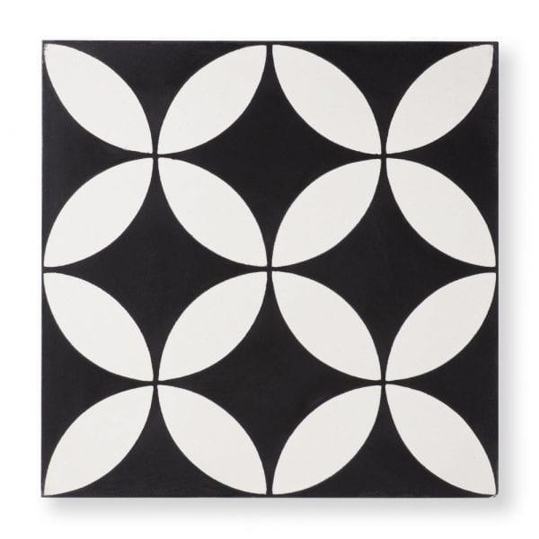 Circulos Black Tile