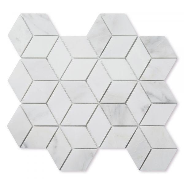 Sample: Casablanca Carrara Marble - Honed - Diamond Mosaic