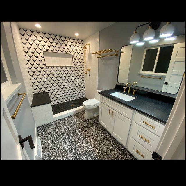 Terrazzo Black Terrazzo Tile Cement Tile Modern Tile